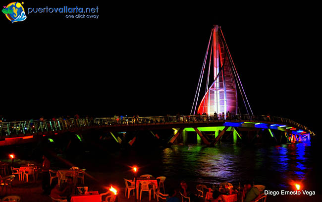 The pier at Los Muertos Beach in Puerto Vallarta's Romantic Zone