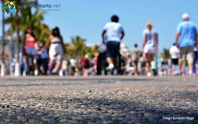 Malecon is the heart of downtown Puerto Vallarta