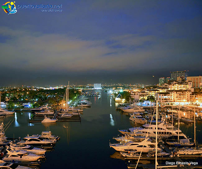 Marina Vallarta night view