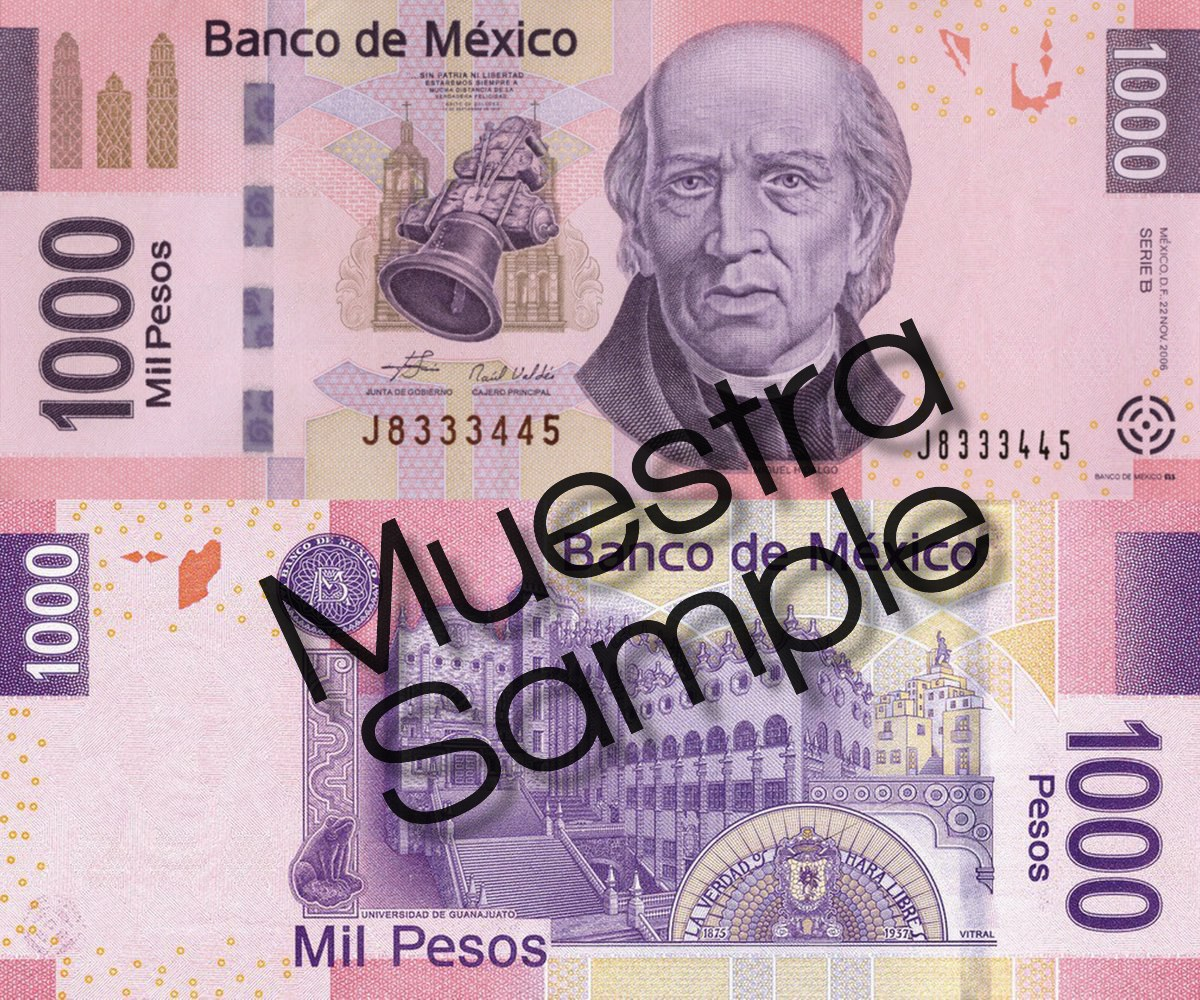 Billete de 1000 pesos
