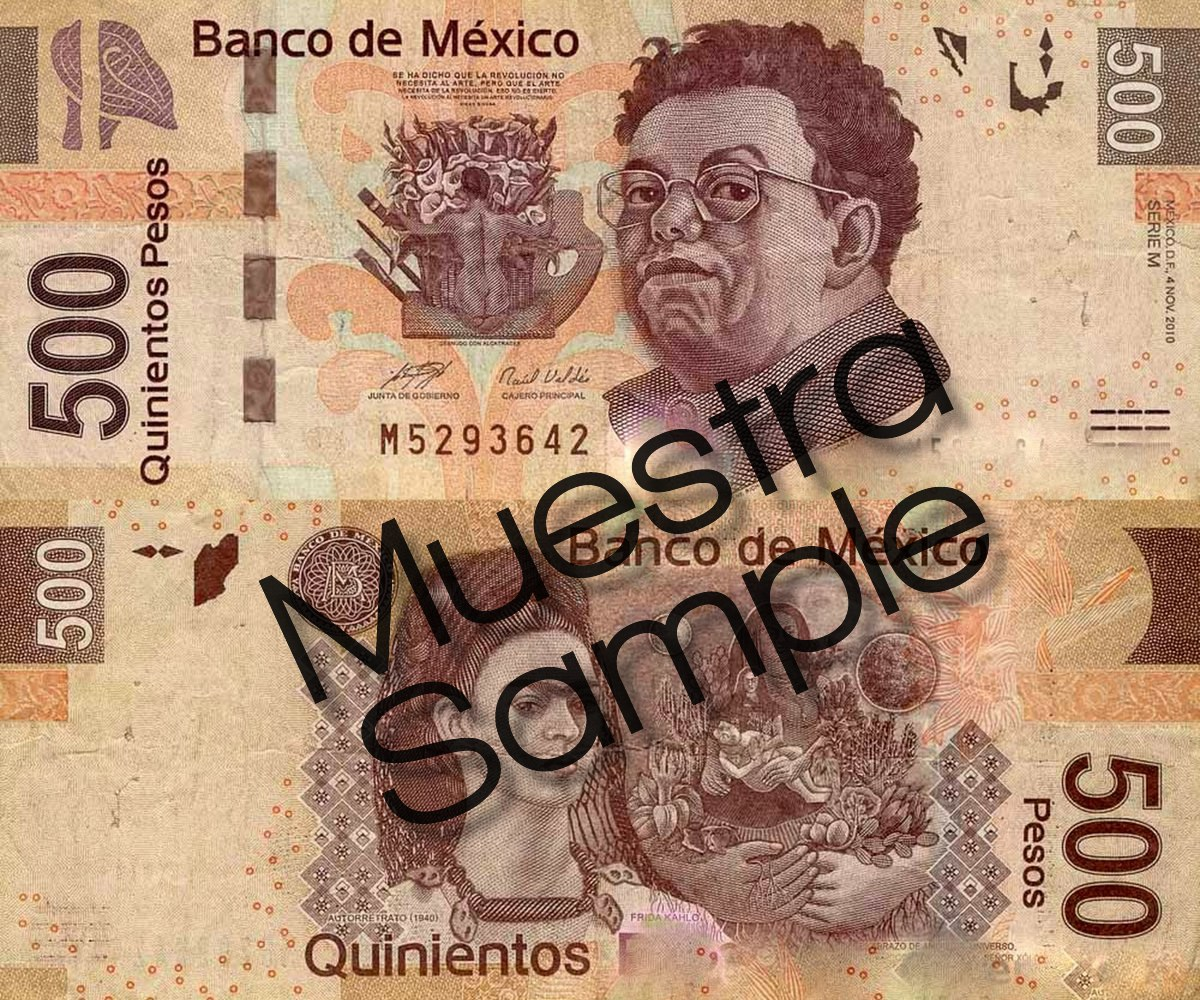 Mexican 500 Peso Bill
