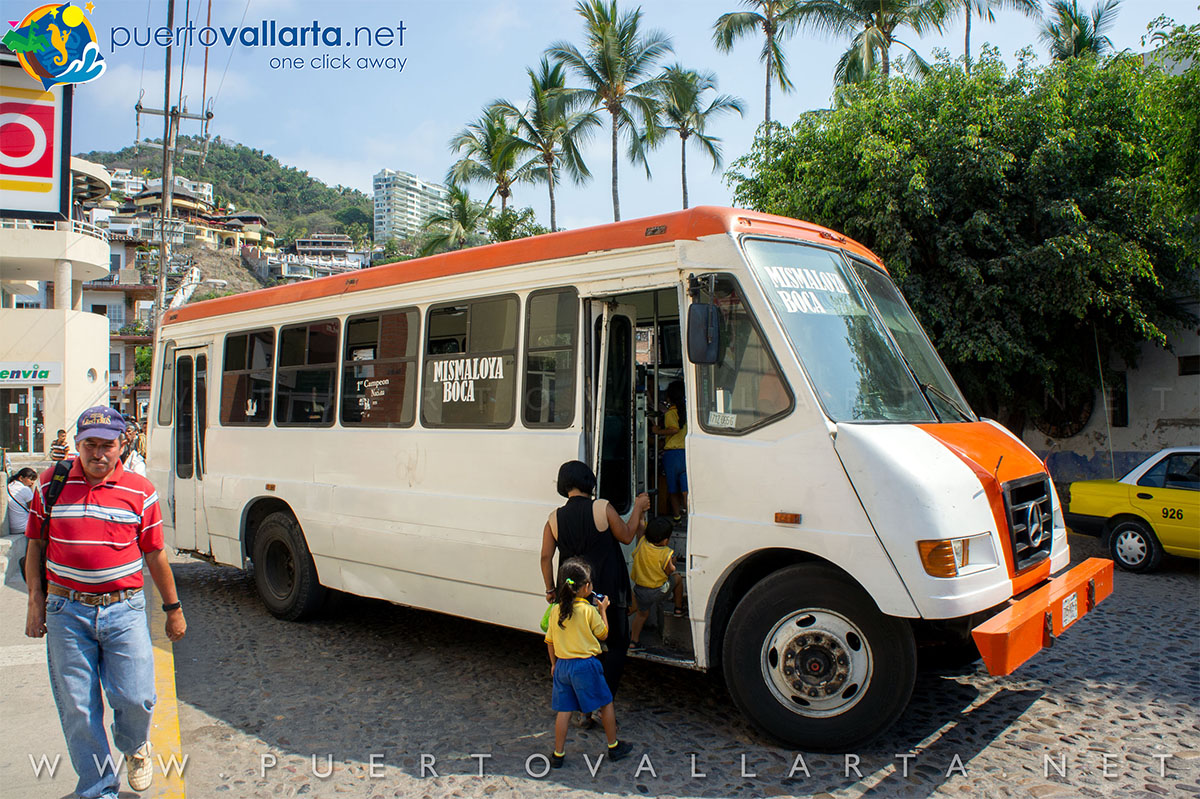 Bus to the south zone from Puerto Vallarta