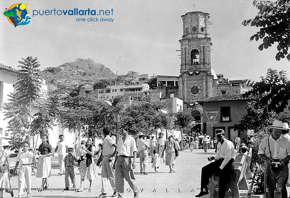 View of the Our Lady of Guadalupe Parish without it's Crown, 1958
