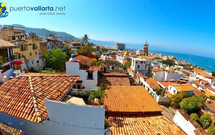 Downtown Puerto Vallarta as viewed from the Matamoros Lighthouse lookout