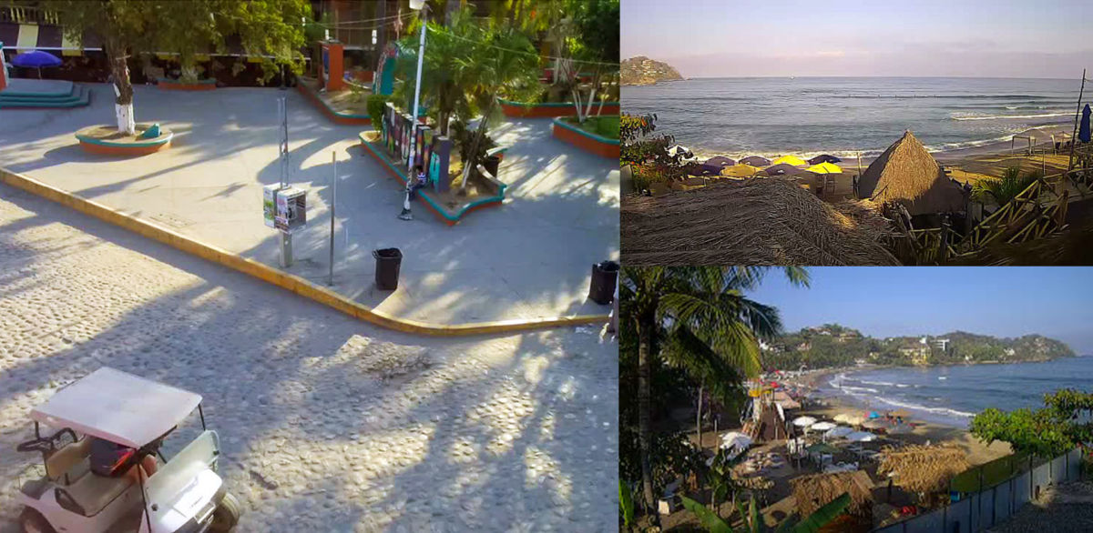 Sayulita Beach and Main Square Webcams