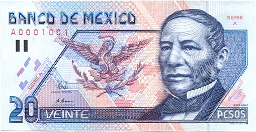 Billete de 20 pesos