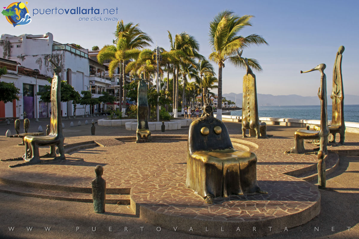 The Roundabout of the Sea by Alejandro Colunga (1996) - PV Malecon/boardwalk