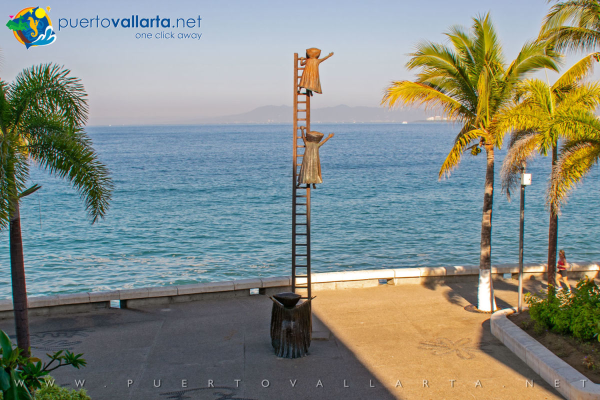 In Search of Reason by Sergio Bustamante on the Malecon in Puerto Vallarta