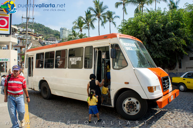 Bus going to Mismaloya and Boca de Tomatlan