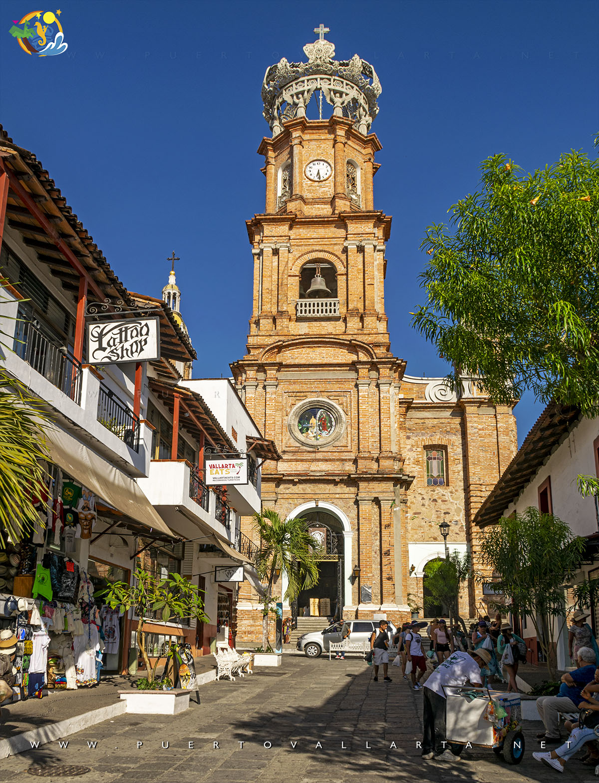 Parish of Our Lady of Guadalupe, seen from Independencia Street, downtown Puerto Vallarta
