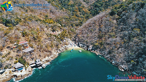 Aerial drone view of Colomitos Beach