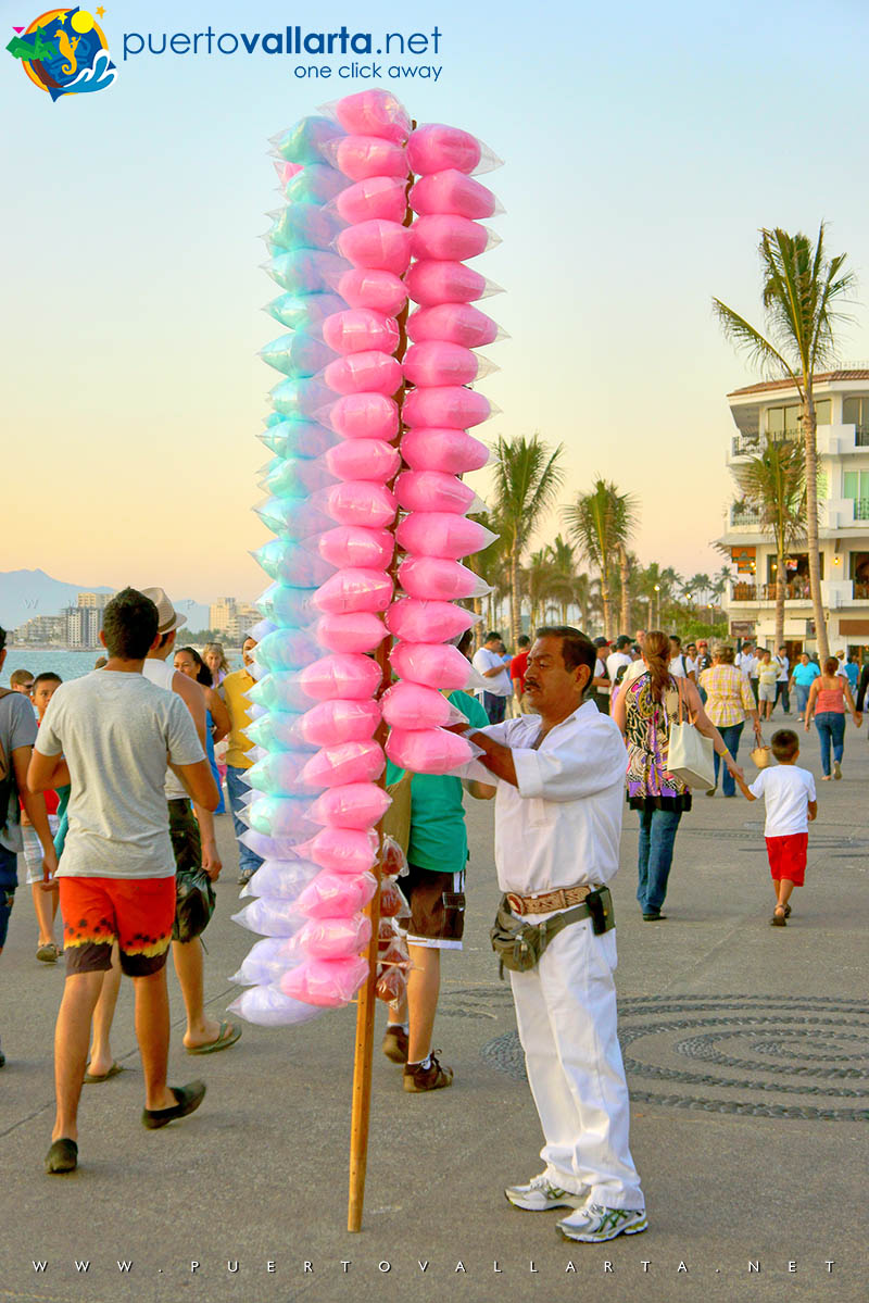 "Get some ""botanas"" & cotton candy on the PV Boardwalk"