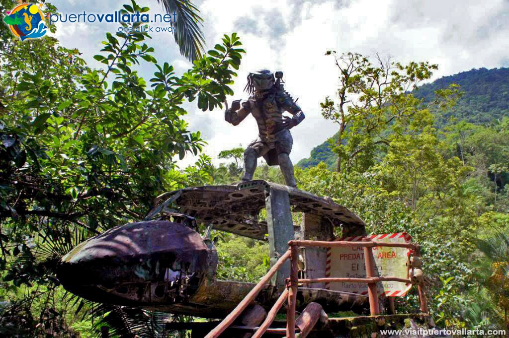 Predator on Helicopter from Predator Movie & El Eden a piece of the Garden of Eden in Jalisco Mexico