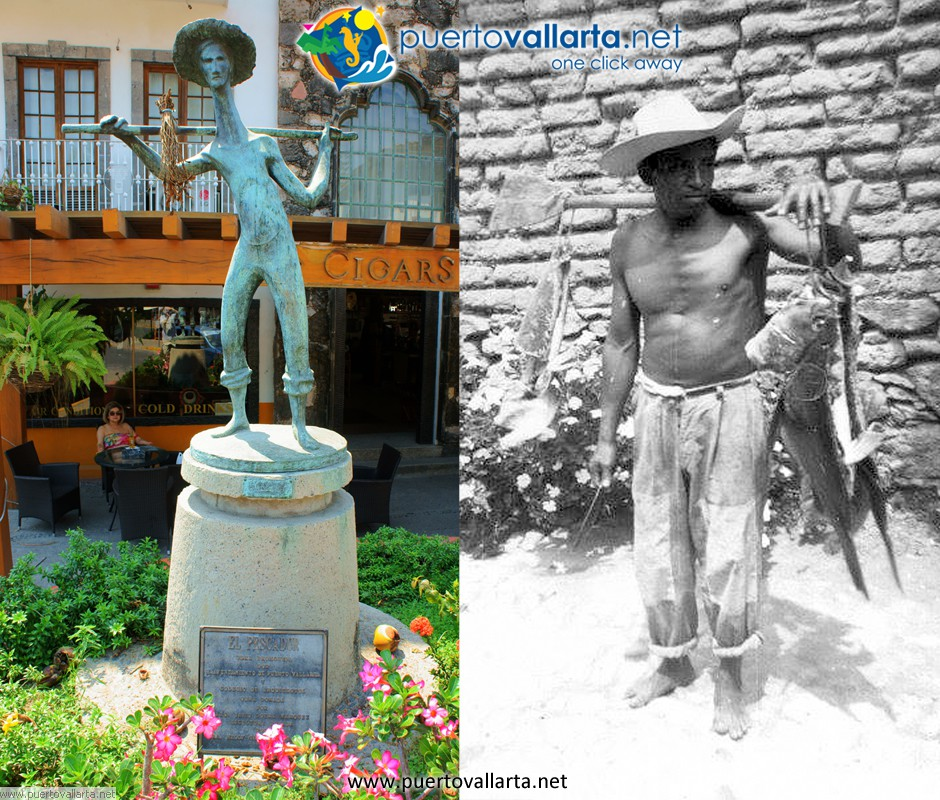 The Fisherman sculpture vs reality