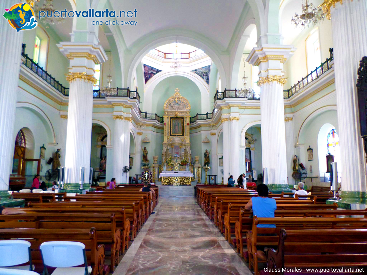 Inside view of Parish of Our Lady of Guadalupe, Puerto Vallarta