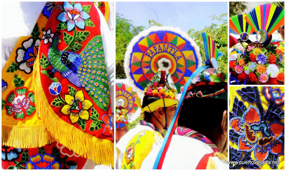 Details of the Papantla costumes