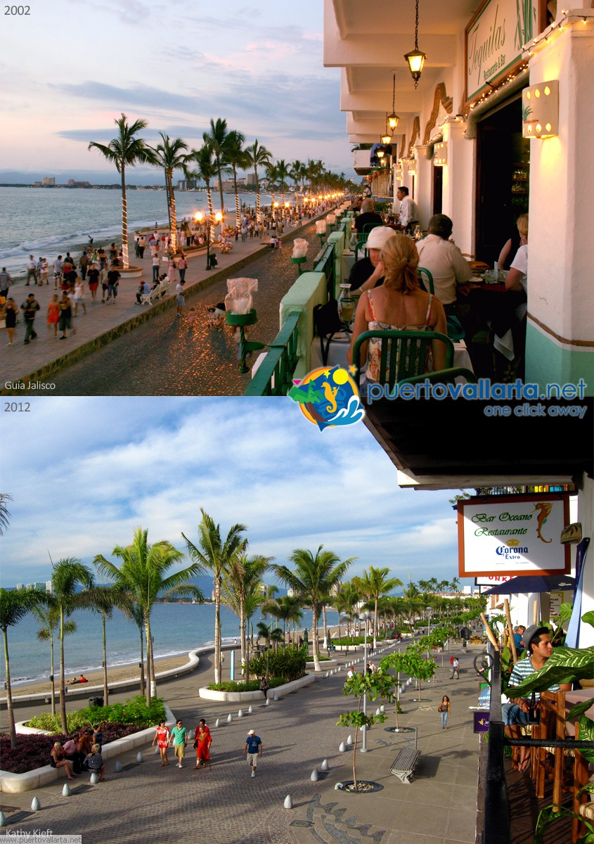 Puerto Vallarta Malecon 2002 vs 2012