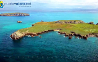Marietas Islands Nayarit Mexico, aerial view