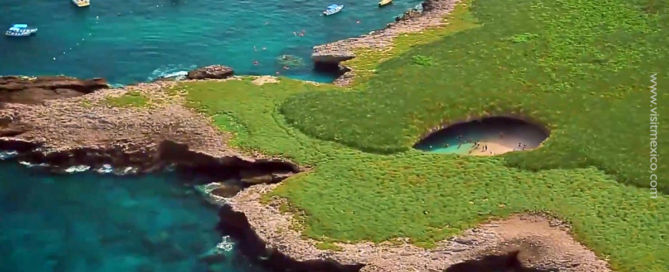 Marietas Islands with the crater and the Hidden Beach