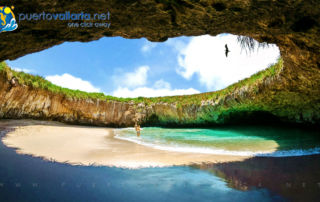 Hidden Crater Beach, Marietas Islands northwest of Puerto Vallarta