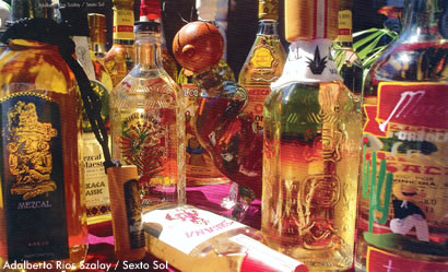 Botellas de Mezcal