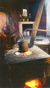 Mescal Still, destillation process