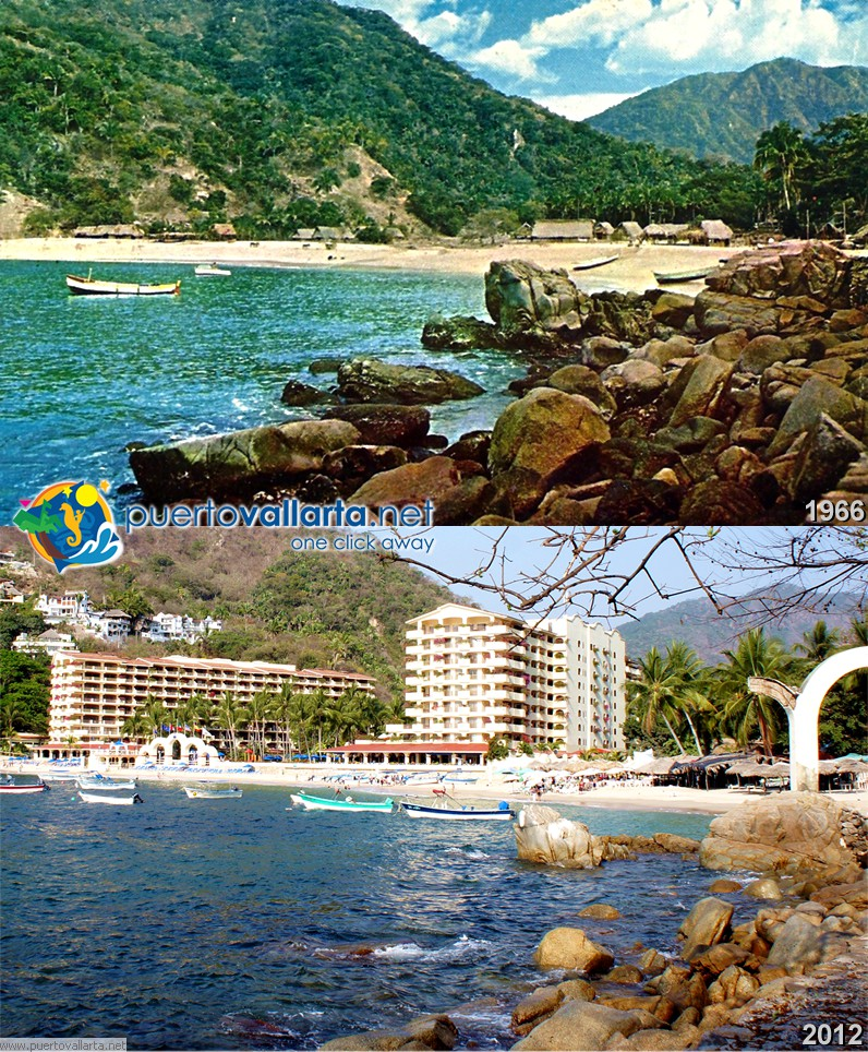 Mismaloya beach 1960s vs 2012