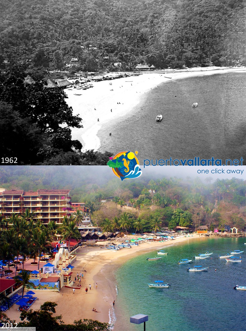 Mismaloya beach 1970s vs 2012