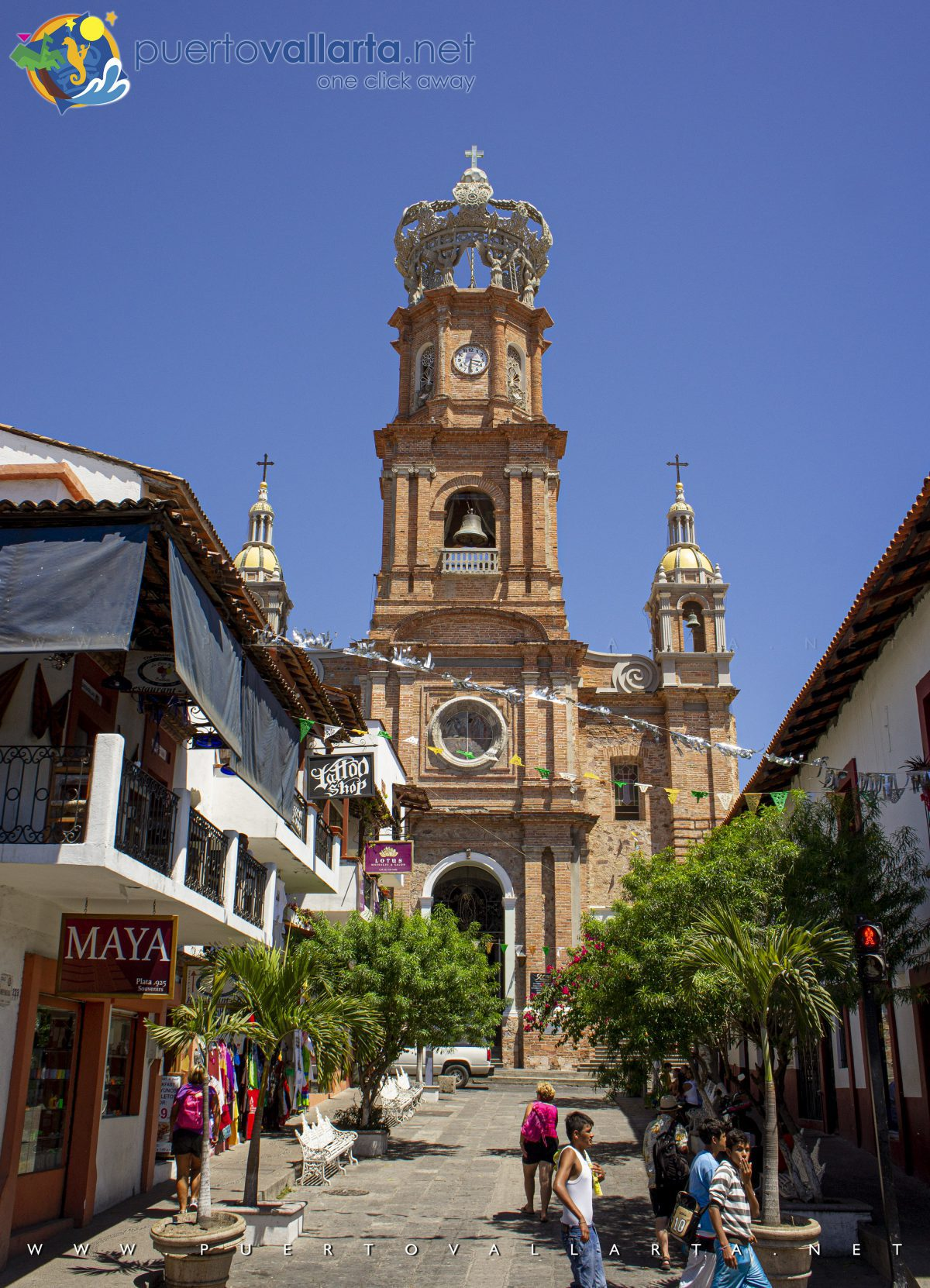 Parish of Our Lady of Guadalupe as seen from the Puerto Vallarta Main Square