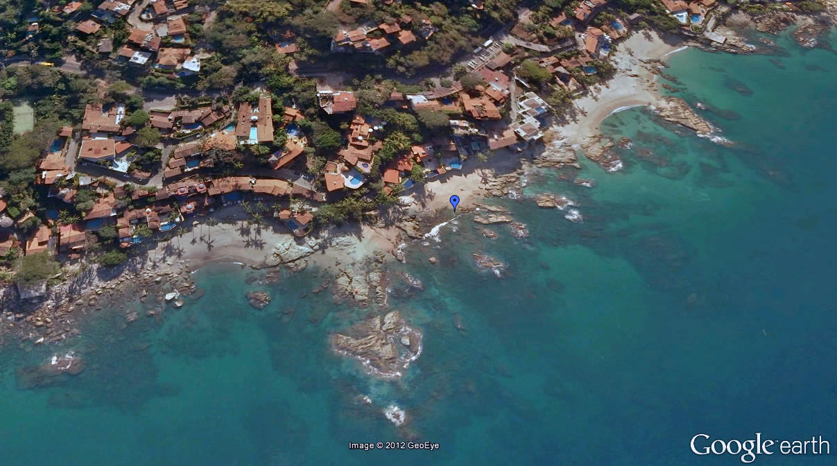 Conchas Chinas Beach Google Earth