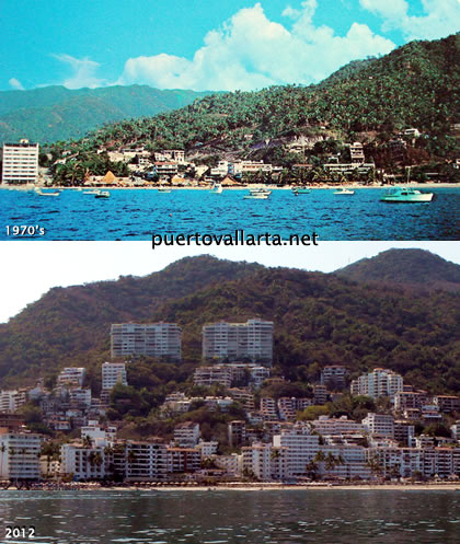 Playa Los Muertos 1970 compared to 2012