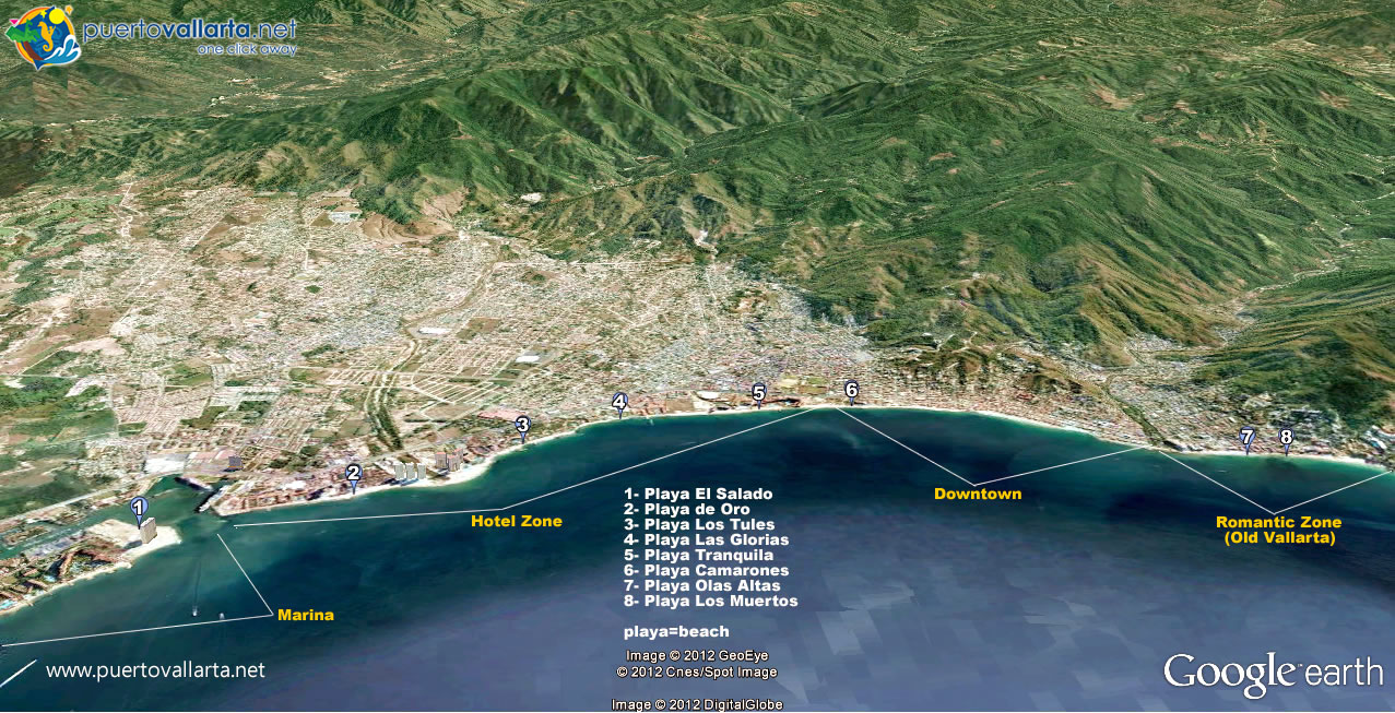 Puerto Vallarta Beaches Complete Guide Map