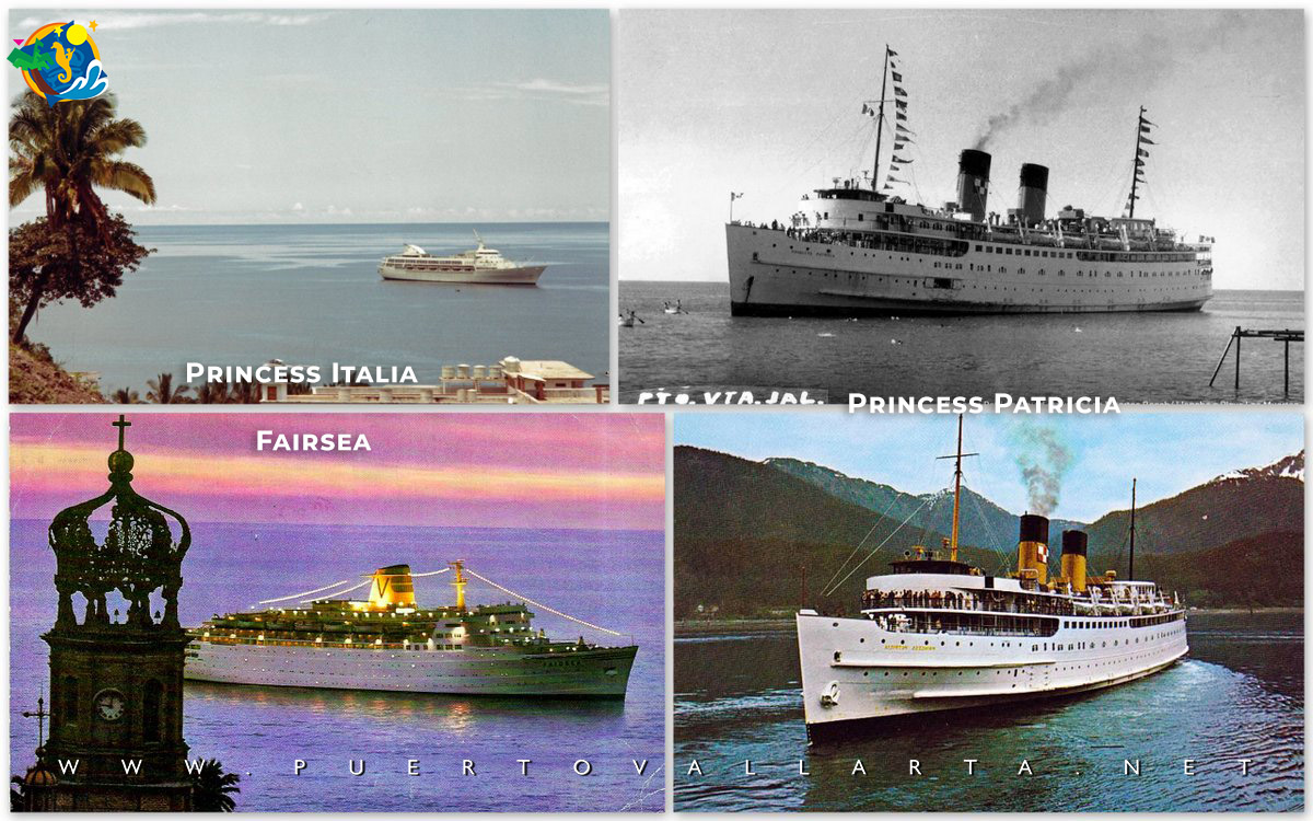 Top left: Princess Italia, Bottom Left: Fairway, Right top and bottom: Princess Patricia from the 1960s and on