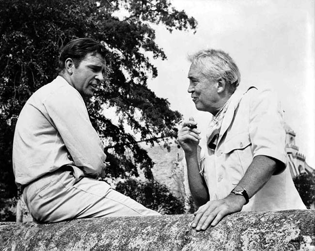 Richard Burton and John Huston