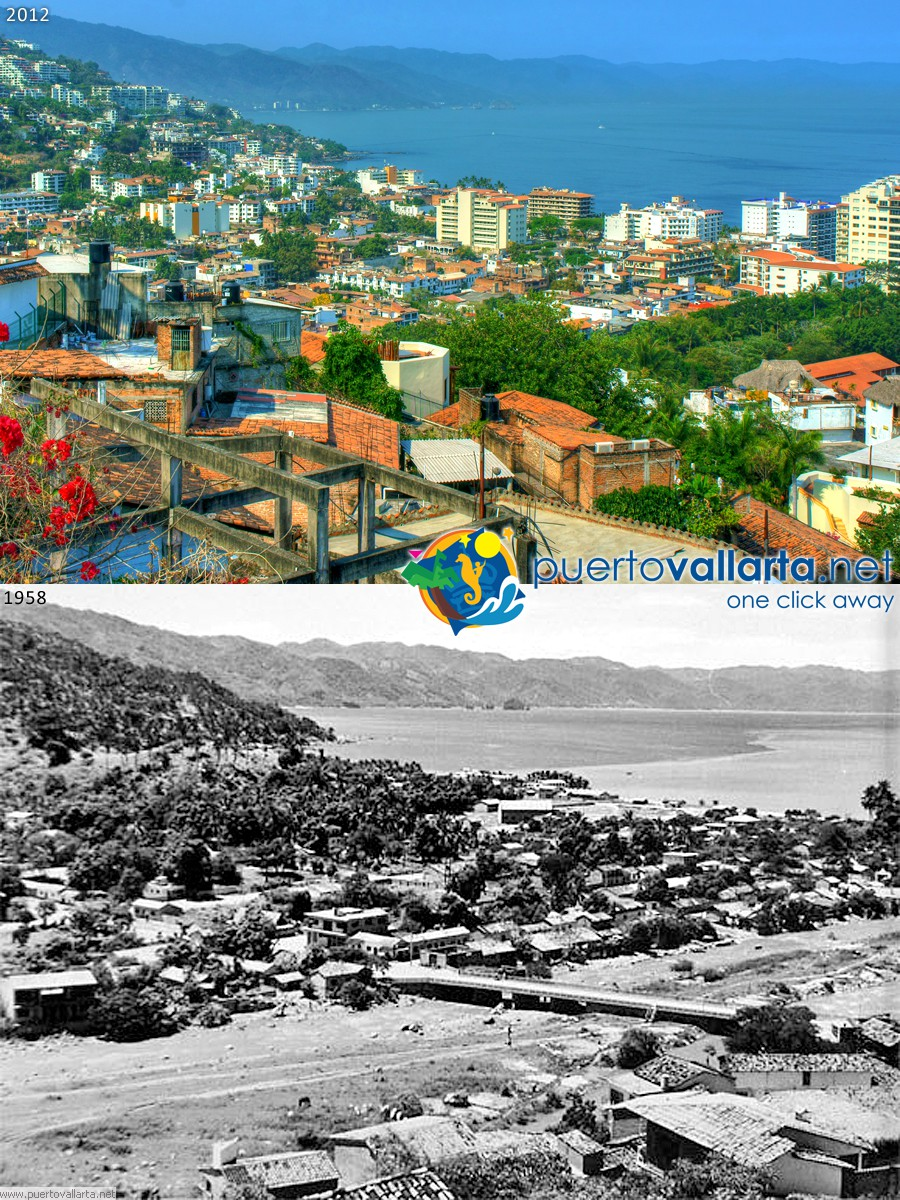 Romantic zone and Cuale River 1965 vs 2012