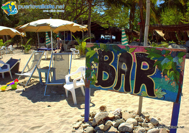 Bar en la playa de Sayulita
