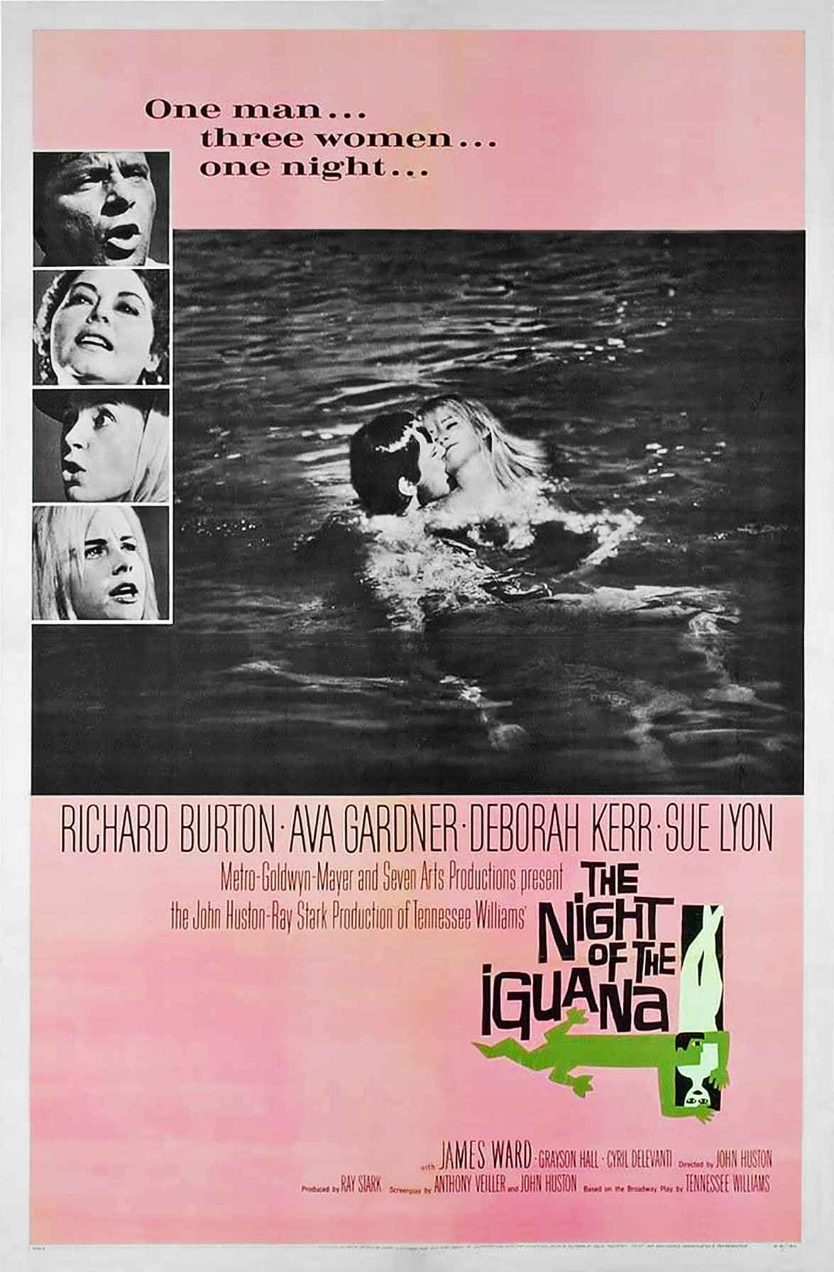 The Night of the Iguana Poster 1964