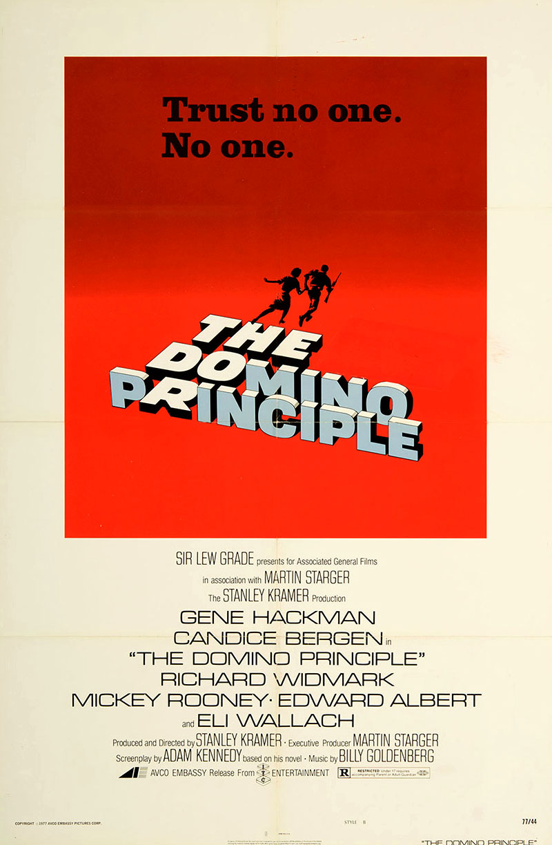 The Domino Principle (1977) movie poster