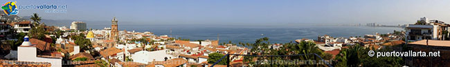 Panoramic view from Matamoros Lighthouse Lookout