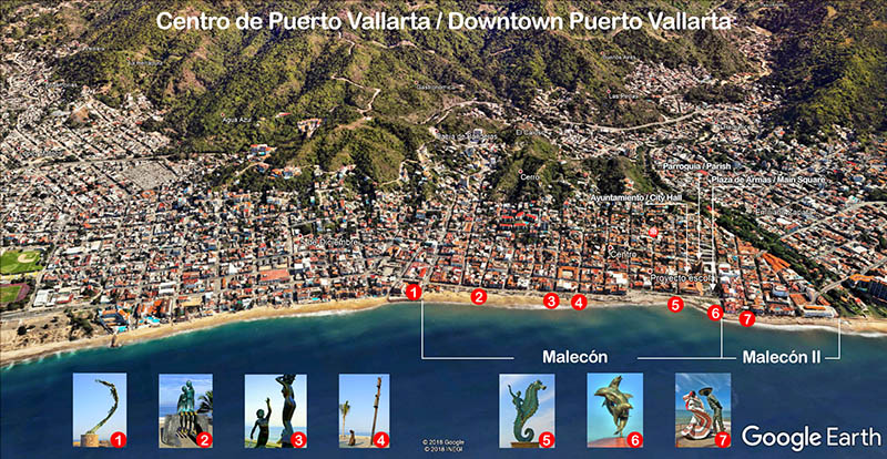 Downtown Puerto Vallarta by Google Earth