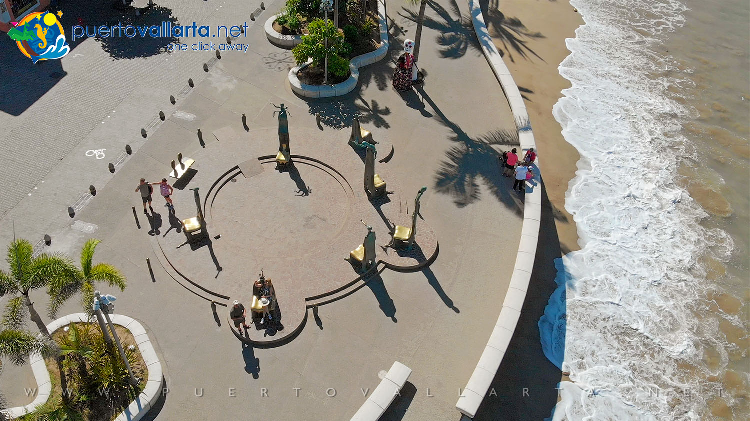The Roundabout of the Sea (1996) by the artist Alejandro Colunga, Malecon, Downtown Puerto Vallarta
