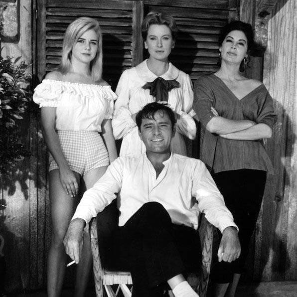 Burton with the cast of the Night of the Iguana