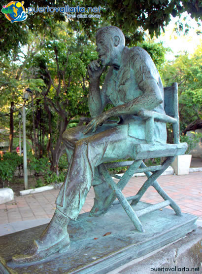 John Huston on Isla Río Cuale, Puerto Vallarta