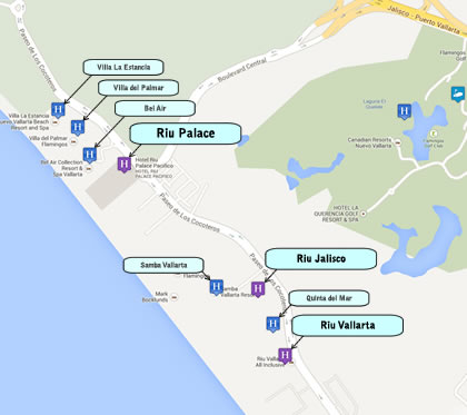 Riu Hotels Map