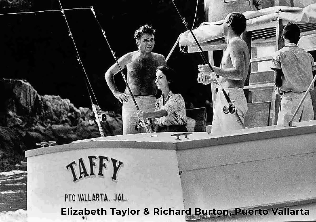 Richard Burton and Elizabeth Taylor in Puerto Vallarta (1963)
