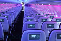 Virgin America offers many onboard facilities.