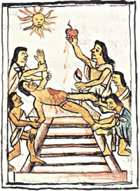 Sun God Huitzilpochtli Sacrifices