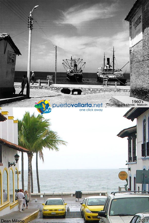 Allende street & the Malecon 1960s vs 2012