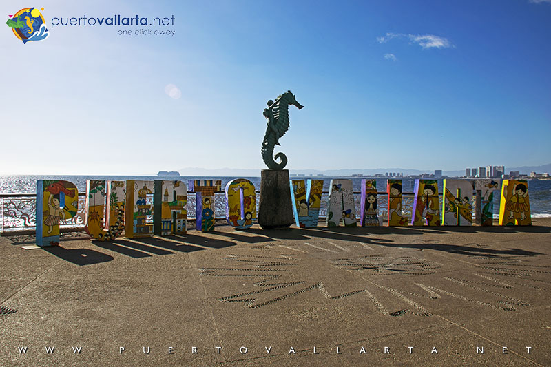 The Boy on the Seahorse, Puerto Vallarta Sign