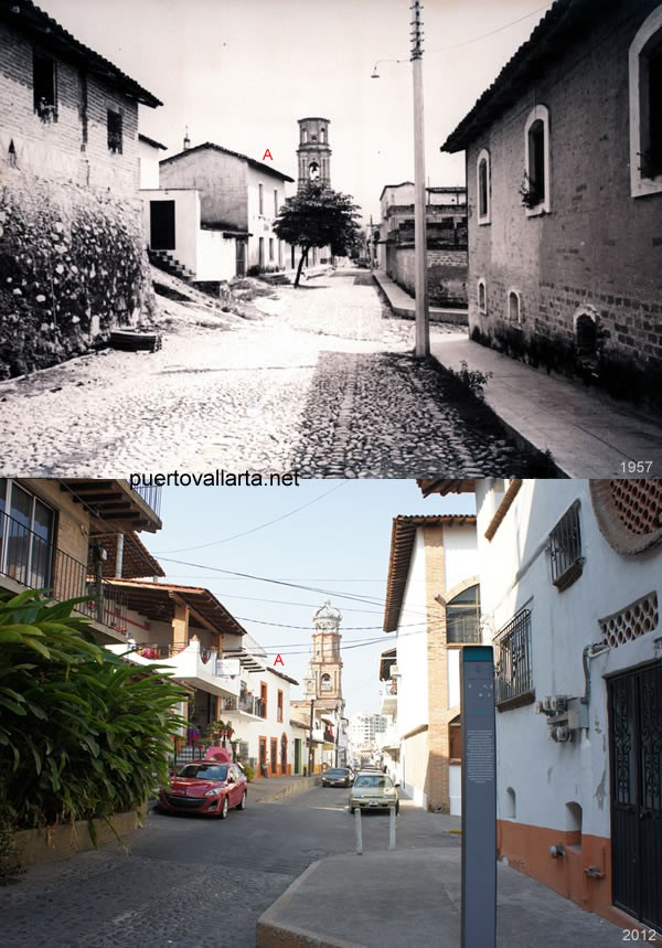 Corner of Hidalgo & Mina Streets 1957 vs 2012